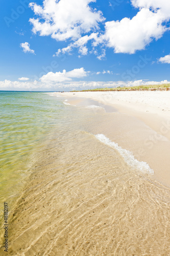 canvas print picture beach on Hel Peninsula, Pomerania, Poland