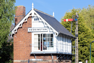 railway museum and railway station,Heckington,East Midlands