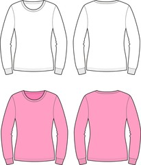 Vector illustration of women's jumper