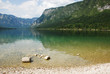 Lake Bohinj Shore in Slovenia
