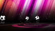 3 Soccer Balls and White Transition - HD1080