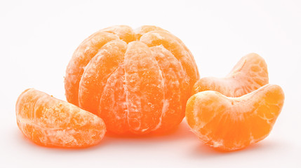 Orange tangerines isolated on a white