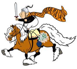 cartoon senior knight
