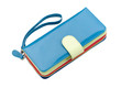 Beautiful blue leather purse for lady