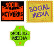 social media / networks sticker, vector illustration