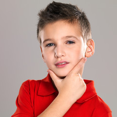Portrait of adorable young beautiful boy