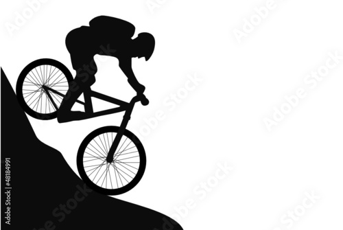 Mountainbike Silhouette