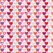 Seamless Pattern Hearts Pattern Retro