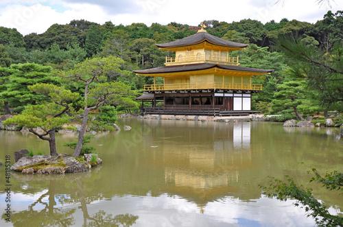 Kinkaku-Ji o Pabellon dorado. Kyoto. Japon.