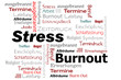 Burnout Stress Wörter Cloud
