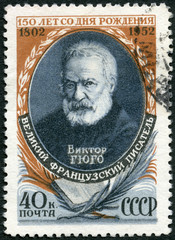 USSR - 1952: shows Victor Hugo (1802-1855), French Writer