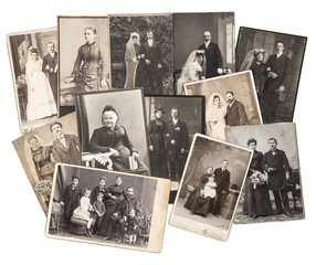 vintage family and wedding photos