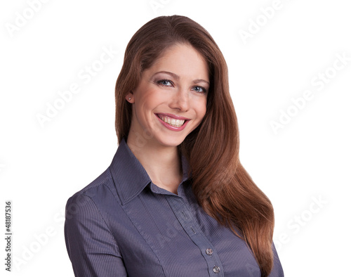 Stylish young woman in a blouse