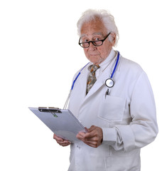 Experienced Doctor holding a chart