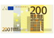 Two hundred euro banknote