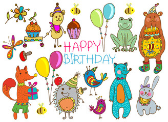 Happy birthday cartoon card