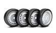 Car wheels isolated on white background