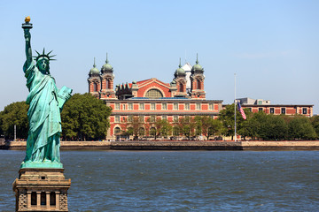 New York City - Ellis Island and Statue of Liberty