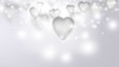 Shining valentine background with hearts and glitter