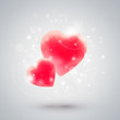 Beautiful hearts. Valentine day greeting card template