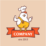 Company logo. Chicken