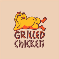 Company logo. Grilled chicken