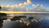 Clouds reflection at Tip of Borneo, Kudat, Malaysia