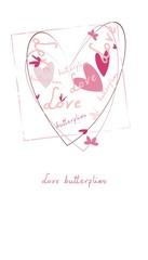 Love  butterflies - valentine illustration
