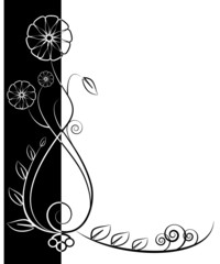 Floral background. Beauty floral illustration.