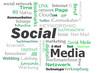 social media cloud Wörter grün