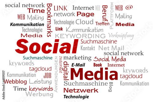 social media cloud Wörter
