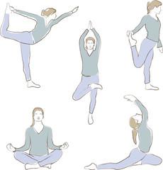 Yoga - Übung - Meditation - Entspannung