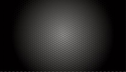 grille en acier perforée : nid d'abeille