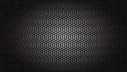 grille perforée en acier : nid d'abeille