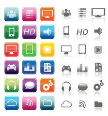 apps et smartphones - icones d'applications pour smartphone
