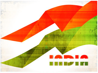 Creative Indian flag for Independence Day and Republic Day