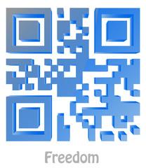 "QR Code of ""Freedom"""