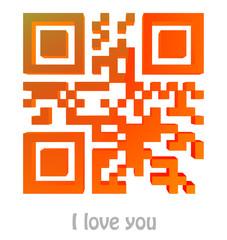 "QR Code of ""I love you"""