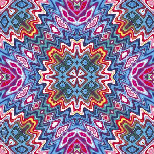 Seamless American tribal pattern