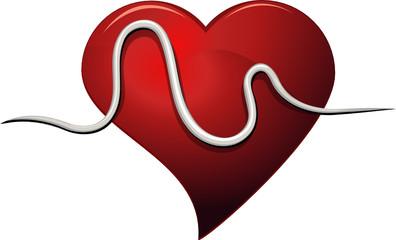 Symbole battement de coeur (détouré)