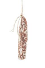 Cured sausage hanging