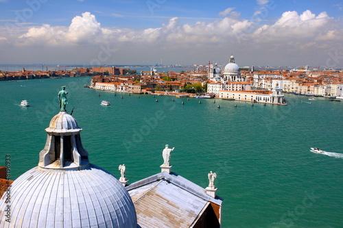 Vue aérienne de Venise et sa lagune - Italie