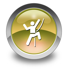 "Yellow Glossy Pictogram ""Rock Climbing"""