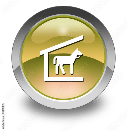 "Yellow Glossy Pictogram ""Stable"""