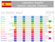 2014 Spanish Planner Calendar with Horizontal Months