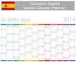 2014 Spanish Planner Calendar with Vertical Months