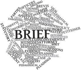 Word cloud for Brief