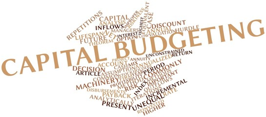 Word cloud for Capital budgeting