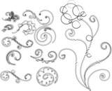 elements of floral ornamen