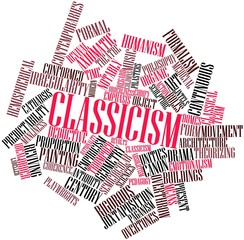 Word cloud for Classicism